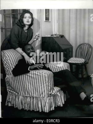 Mar. 03, 1959 - Prince Henry Kimera returns from Honeymoon. photo shows Prince Henry Kimera, 31-year old brother - Stock Photo