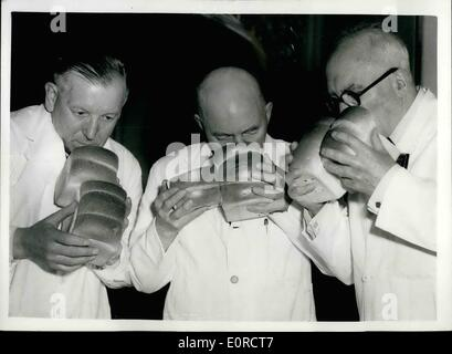 Mar. 03, 1959 - ''The British Baker'' and ''Confectionery and Baking Craft'' Exhibition at Caxton Hall: Over 1,000 - Stock Photo