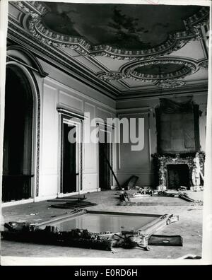 Mar. 03, 1959 - Home Of Baron De Rothschild Being Demolished.:Photo shows view inside of the rooms of the massive - Stock Photo