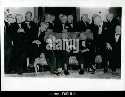 Sep. 09, 1959 - President Eisenhower's War-Time Comrades go to his party at Winfield House: Men Whose names became - Stock Photo