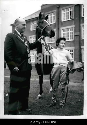 Nov. 11, 1959 - Penny receives the Queen's Pony.: Today was a big day for ten-year-old Penny Stephenson, of St. - Stock Photo