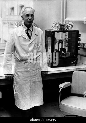 Jan 01, 1960 - File Photo: circa 1960s, location unknown. JEAN-BAPTISTE-GABRIEL-JOACHIM DAUSSET (b. October 19, - Stock Photo