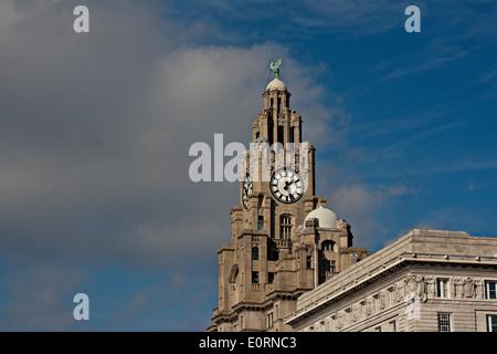 Liverpool's World Heritage status waterfront buildings - Stock Photo