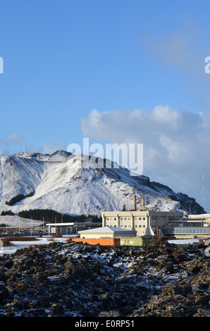 Svartsengi geothermal electrical power station near Grindavik, Iceland. - Stock Photo