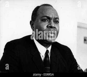 Civil Rights leader James L. Farmer, Jr. in meeting - Stock Photo