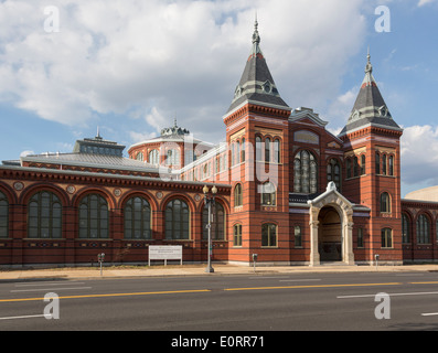 Arts and Industries building of Smithsonian Institution in Washington DC, USA - Stock Photo