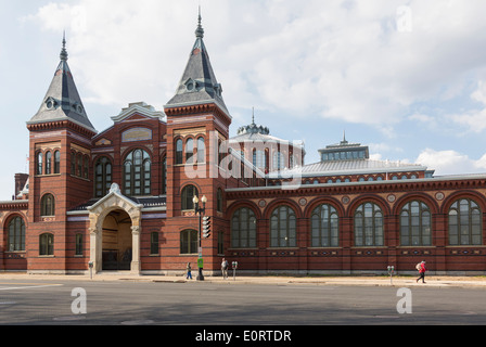 Exterior of Arts and Industries building of Smithsonian Institution in Washington DC, USA - Stock Photo