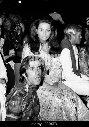 Princess Ira Von Furstenberg seated at an event with a man - Stock Photo