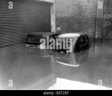 NATURAL DISASTER: 1960 Floods in England - Stock Photo