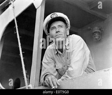 Henry Fonda, on-set of the Film, 'Mister Roberts', 1955 - Stock Photo