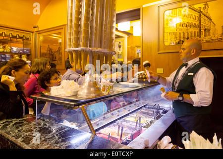 5ef594ade1ea38 ... Staff serving italian ice cream ( gelato ) in the famous Gelateria  Giolitti