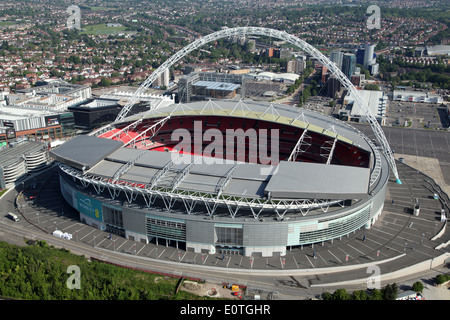 aerial view of Wembley Stadium, London, UK - Stock Photo