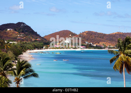 View south on Grand Anse Bay near St George township, Grenada, Caribbean - Stock Photo