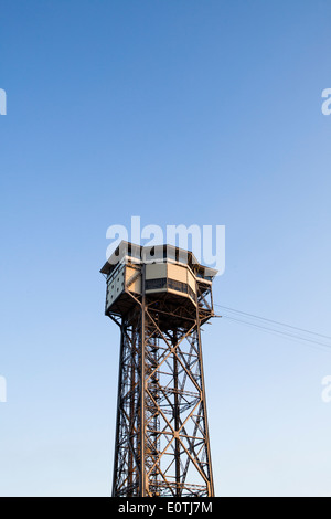 St. Sebastian cable car tower in Barcelona - Stock Photo