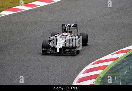 Formula One Grand Prix of Spain 2014 ---- Jenson Button (GBR), McLaren MP4-29 - Stock Photo