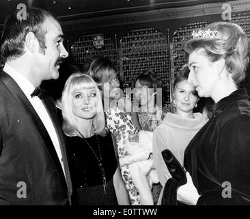 Actor Sean Connery at a party with wife Diane Cilento - Stock Photo