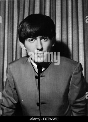 Portrait of The Beatles guitarist George Harrison - Stock Photo