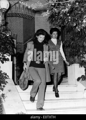 First Lady Jacqueline Kennedy with Maria Lemos - Stock Photo
