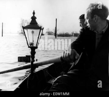 NATURAL DISASTERS: 1960 Floods in England - Stock Photo