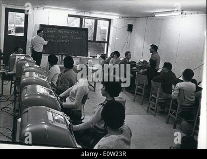 Feb. 02, 1961 - Preview of trial against Adolf Eichmann in Jerusalem: A special course for teleprinting operators - Stock Photo