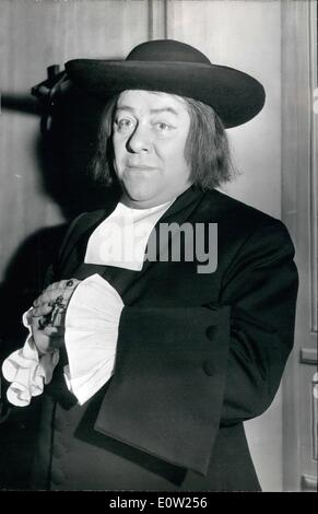 Feb. 02, 1961 - Francis Blanche in new impersonation: Francis Blanche, the famous French sen and stage actor who - Stock Photo