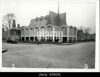 Dec. 16, 1960 - View of St. Paul's Church on the Brandon Estate, which has been built by the Church of England authorities - Stock Photo