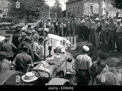 Jun. 06, 1961 - Farmers Revolt Spreads Throughout France: Farmers' demonstrations in protest against the low prices - Stock Photo