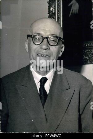 Apr. 30, 1961 - Maurice Patin, Appeals Court President - Stock Photo
