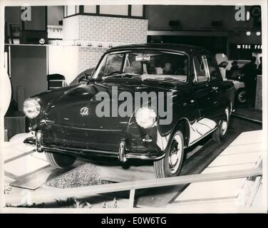 Oct. 10, 1961 - Motor show opens at Earl's Court: The Motor Show opened this morning at Earl's Court in London. - Stock Photo
