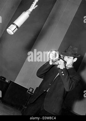 The Prince Of Cool Chet Baker playing his trumpet - Stock Photo