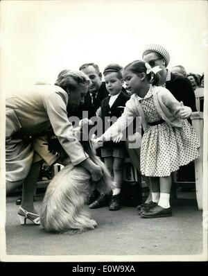 Apr. 04, 1962 - Princess Grace And Family -- Go To The Do Show: Guests of honor at the Monte Carlo Dog Show yesterday - Stock Photo
