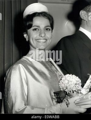 Mar. 15, 1962 - Labour MP Marries Iraqi Heiress; Harold Lever, 48, Labour MP for Manchester's Cheatham Division, - Stock Photo