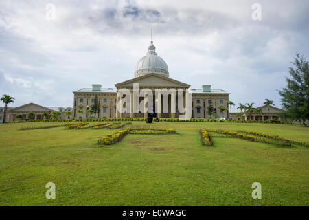 Capitol complex, government buildings, Melekeok, Palau - Stock Photo