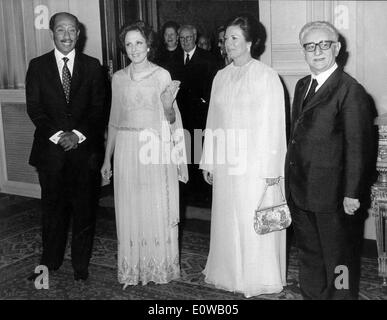 President Giovanni Leone receives Anwar Sadat - Stock Photo