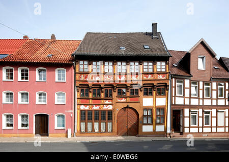 Planets House, building in the Renaissance style, depicting Roman gods as planets, half-timbered house, Alfeld an - Stock Photo
