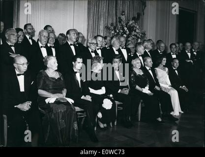May 05, 1962 - Nobel Prize winners guests of the White House: 49 Nobel Prize winners were honoured guests of a reception - Stock Photo