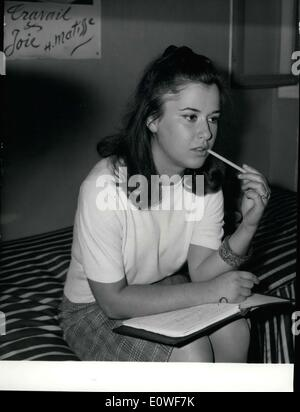 Oct. 16, 1962 - Anne Brouillard has been making a literary career for herself for 8 years. Now 18, Brouillard published - Stock Photo