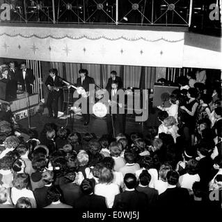 The Beatles playing at the Cavern in Liverpool - Stock Photo