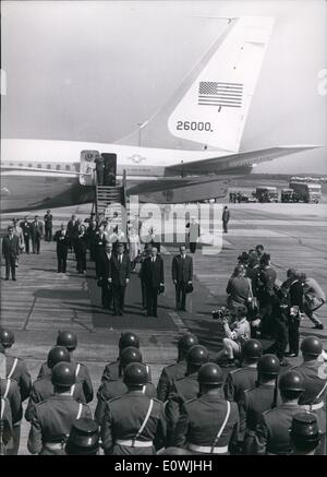 Jun. 06, 1963 - Pictured is US President John F. Kennedy after he has arrived in the German city of Köln. It - Stock Photo