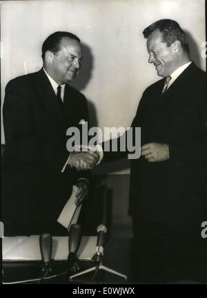 Jun. 06, 1963 - US-Ambassador McGhee in Berlin: To his first official visit new american ambassador in the Federal - Stock Photo