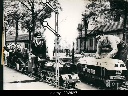 May 05, 1963 - A Paradise for model-railway-fans......has been set up in Kassel Germany for the annual meeting of - Stock Photo