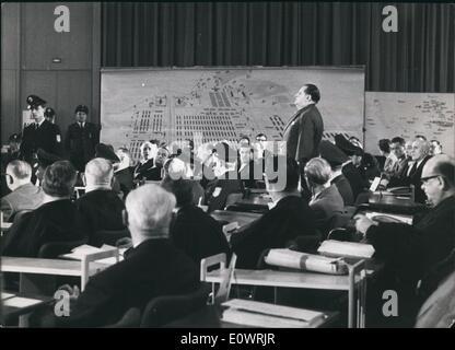 Dec. 12, 1963 - Auschwitz trial opened in Frankfurt: 22 former SS men are facing court in West German's biggest - Stock Photo