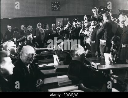 Dec. 12, 1963 - Auschwitz trial opened in Frankfurt: 22 former SS-men are facing court in West Germany's biggest - Stock Photo