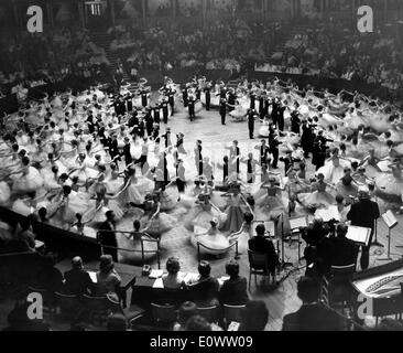 A ball going on at Royal Albert Hall in London - Stock Photo