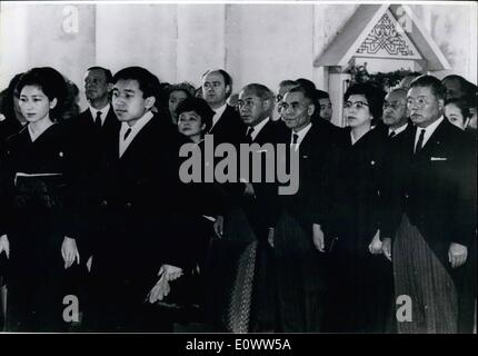 Mar. 03, 1964 - Crown Princess Michiko and Crown Prince Akihito in left foreground and other prominent Japanese - Stock Photo