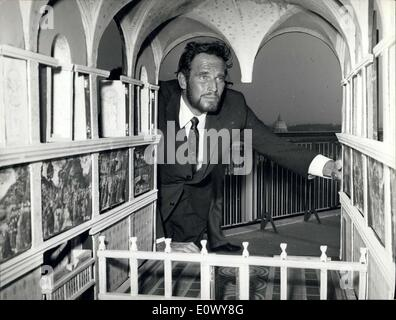 Jun. 11, 1964 - Charlton Heston the American actor who will be ''Michelangelo'' in the film ''Life of Michelangelo'' - Stock Photo