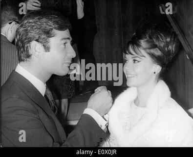 Actress Natalie Wood with actor Jean- Claude Brialy - Stock Photo