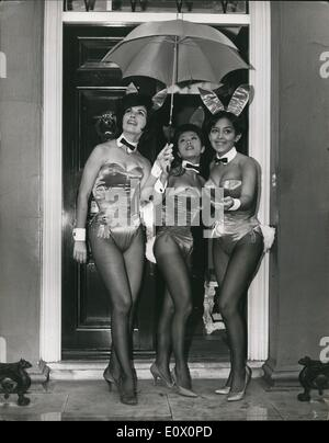 Oct. 10, 1964 - Playboy Club Bunnies in London: Seven beautiful bunnies from America's famous Playboy Clubs, have - Stock Photo
