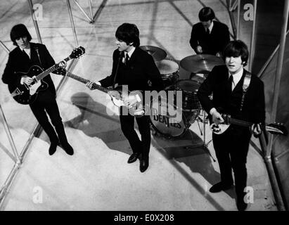 The Beatles record a TV. special at Granada's Manchester Studio - Stock Photo