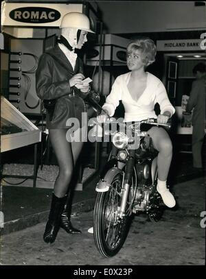 Nov. 11, 1964 - International Cycle and Motor Cycle Show.. The ''Fair-Cop'' of The Future...A Press view was held - Stock Photo